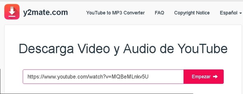 como descargar audio de videos de youtube sin instalar programas
